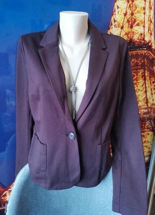 Тканевый пиджак на одной пуговице люкс качества