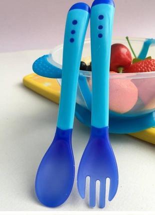 Дитяча посуда на присосці 3в1