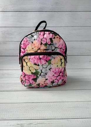 Женский рюкзак цветочный