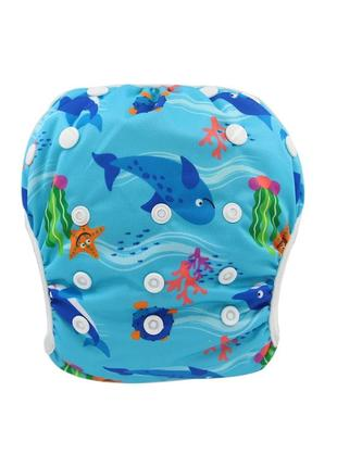 Многоразовые трусики подгузники для плавания. трусики для бассейна.