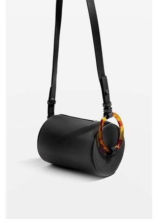 Трендовая сумка в форме бочонка овальная круглая сумка с кольцом