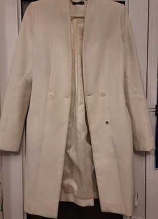 Пальто фрак кашемировое белое
