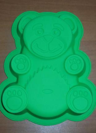 Велика силіконова форма ведмідь валера