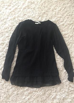 Новый теплый свитер, с прозрачными вставками