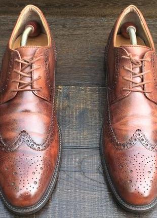 Geox. кожаные мужские туфли броги.