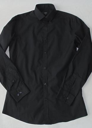 Тонкая черная рубашка 15 р. george