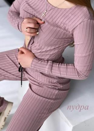 Женский костюм с кюлотами  «рубчик»