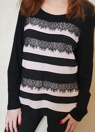 Стильная, очень элегантная блузка лонгслив gerry weber