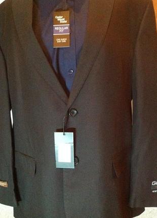 Шикарный пиджак в рубчик итальянского бренда gf, р. 60