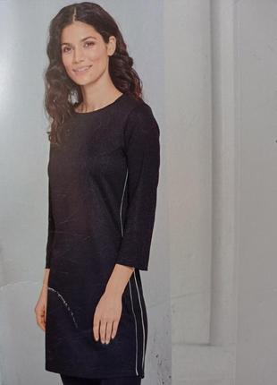 36/38 p красивое чёрное платье с полоской по бокам blue motion