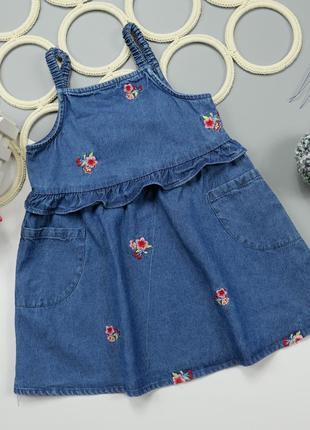 Джинсовое платье на 1.5-2 года