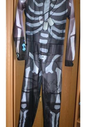 Карнавальный костюм фортнайт, скелет на 9-10 лет, костюм хэллоуин, хеловин