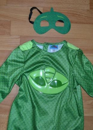 Карнавальный костюм геко на 3-4 года, костюм герои в масках