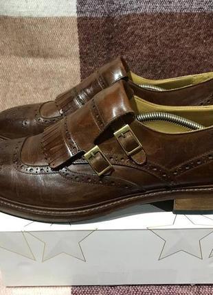 Кожаные туфли монки navyboot made in italy
