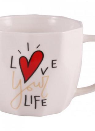 Чашка milika love your life white  (360мл)