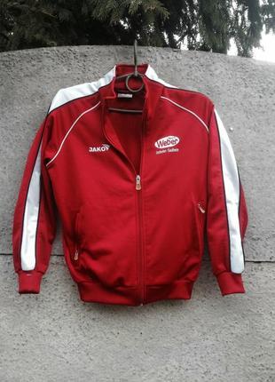 Спортивная олемпийка, красная, белая кофта на 10 лет. jako.