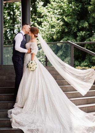 Продам весільну сукню millanova4 фото