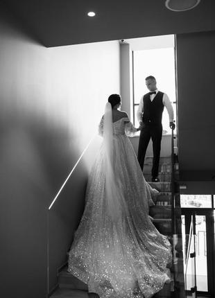 Продам весільну сукню millanova5 фото