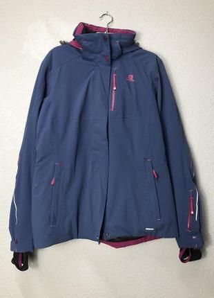 Куртка лижна salomon xl жіноча женская лыжная куртка