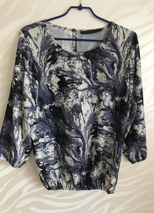 Блуза синяя реглан  educe размер 50-52
