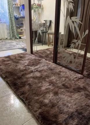 Прикроватный коврик пушистый прекроватный ковёр