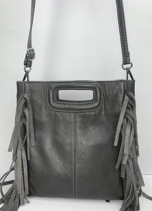 Италия! кожаная фирменная сумочка на/ через плечо, в руку borse in pelle.