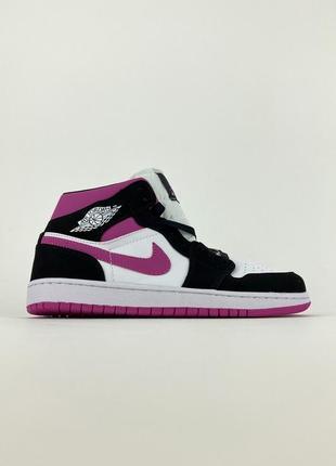 Высокие женские кроссовки nike air jordan 1