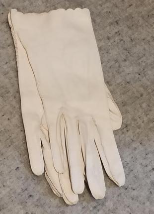Винтажные перчатки лайковая кожа новые 6,5раз.