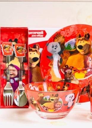 Дитячий подарунковий набір скляного посуду