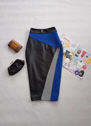 Стильная юбка карандаш с пропиткой под кожу от river island