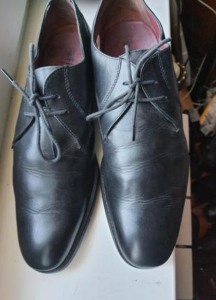 Черные кожаные  туфли firetrap, 43 размер. оригинал