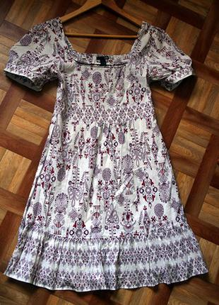 Легкое платье h&m из котона
