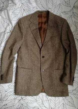 Шерстяной шикарный пиджак j. philipp germany (подкл. вискоза) не парит