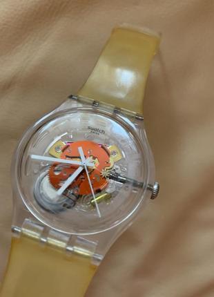 Часы swatch sr1130sw открытй механизм часы унисекс прозрачные своч