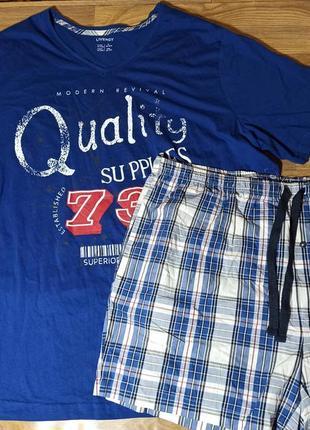 Мужская пижама большого размера, домашний комплект livergy.
