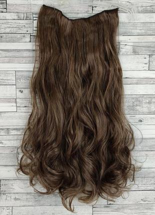 Волосы на заколках на ленте 55см 24см золотистый каштановый, светло-коричневый 3826