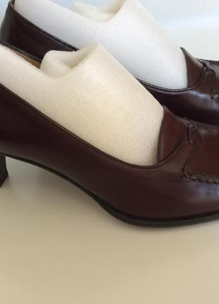 Bally кожаные бордовые стильные классические туфли