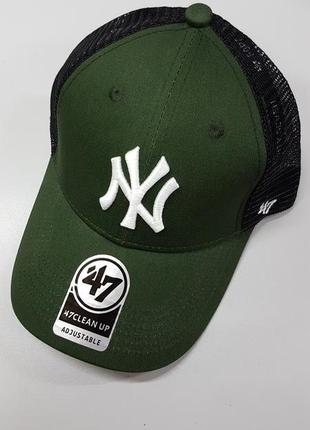 Кепка бейсболка new york yankees сетка унисекс