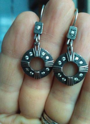 Винтажные серебряные серьги