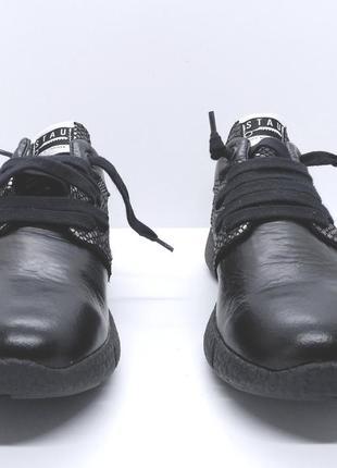 Стильные полностью кожаные итальянские мокасины кроссовки stau ботиночки luxury sneakers