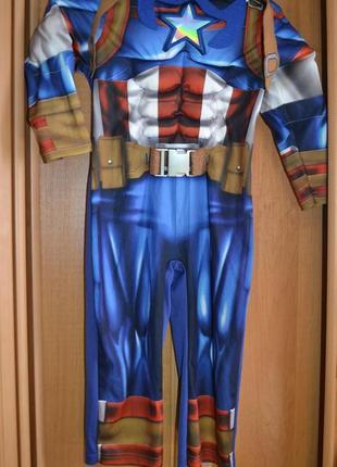 Карнавальный костюм капитан америка на 3-4 года
