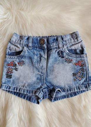 Next джинсовые шорты на девочку
