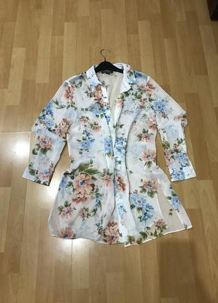 Рубашка шифоновая, блуза, блузка, шифон
