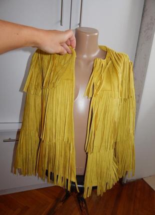 River island пиджак жакет балеро из искусственной замши модный uk12 eur40