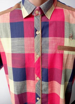 Ефектна бавовняна літня сорочка в клітку xl
