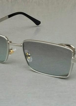 Versace модные узкие солнцезащитные очки унисекс сине серые в металлической оправе