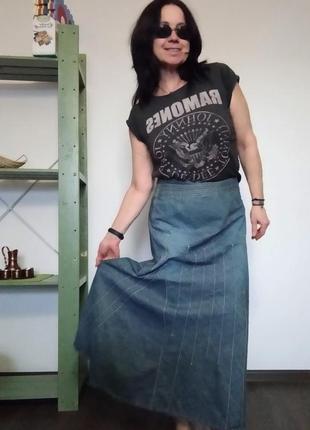 Джинсовая юбка макси wallis
