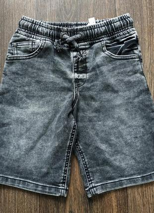 Шорты джинсовые на резинке 7-8 лет