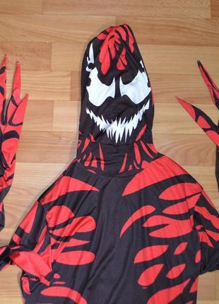 Карнавальный костюм карнаж, веном примерно на 10-11 лет, 11-12 лет, человек паук
