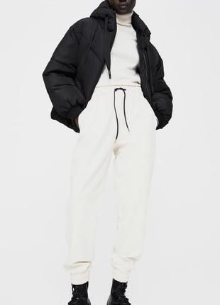 Нереально красивые белые джогеры zara / штаны zara